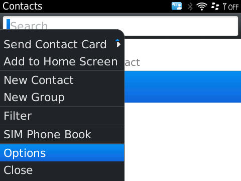 Getting contacts count on Blackberry phone